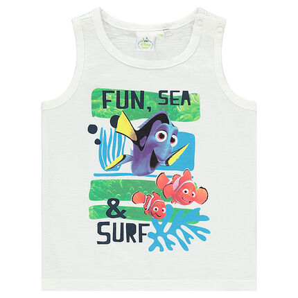 Slub jersey tank top with Disney Nemo print