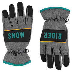 Micropolar lined ski gloves
