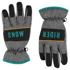 Micropolar lined ski gloves