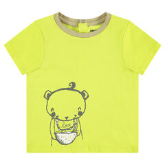 Short-sleeved jersey tee-shirt with a bear print