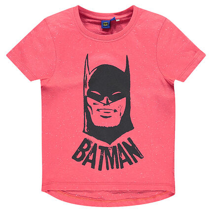 Short-sleeved, Nepalese aspect tee-shirt with BATMAN print