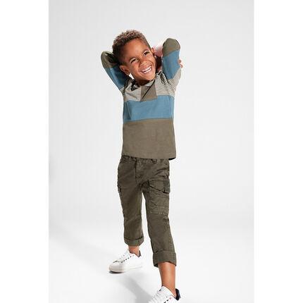 Overdyed khaki twill pants with pockets