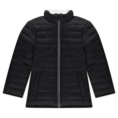 Junior - Reversible quilted coat with a contrasting zipper