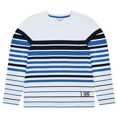 Junior - Sailor shirt with contrasting stripes and printed numbers