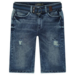 Junior - Denim shorts with a removable belt