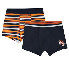 Junior - Pack of 2 boxers in plain / striped cotton