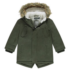 Junior - Sherpa-lined hooded parka with fake fur