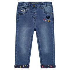 Slim jeans with embroidery