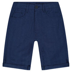 Junior - Striped cotton bermuda shorts