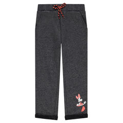 Heathered fleece pants with Disney Minnie Mouse print