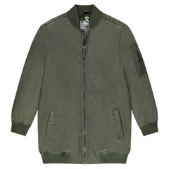 Junior -  Long bomber jacket with letterman collar and pockets