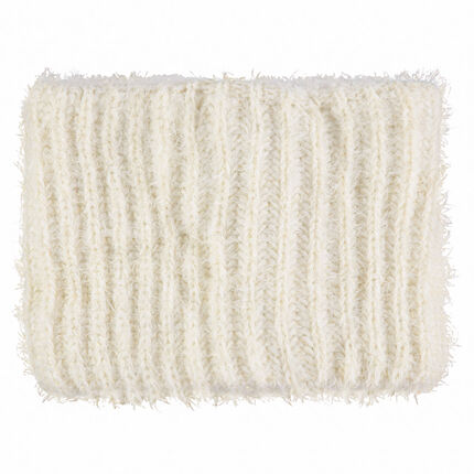 Fun fur-effect knit snood with sherpa lining