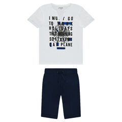 Junior - Set with printed short-sleeved t-shirt and Bermuda shorts