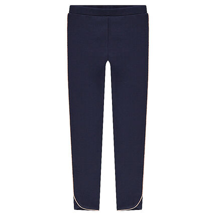 Junior - Jersey leggings with golden piping