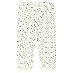 Printed Fleece Track Pants