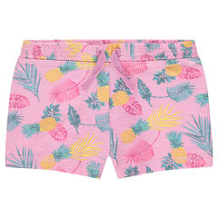 Slub jersey shorts with an allover print