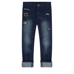 Used-effect jeans with Disney/Pixar® Cars badge patches