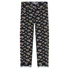Printed fleece jeggings