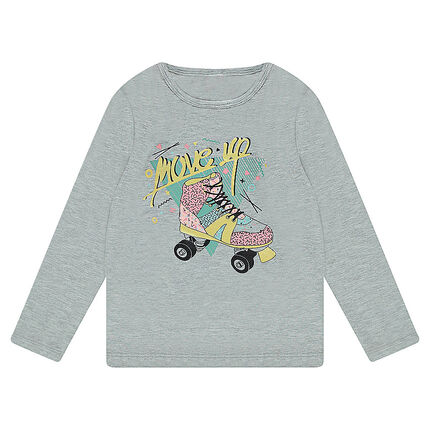 Long-sleeved jersey tee-shirt with skate print