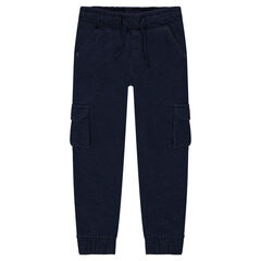 Fleece jogging pants with pockets
