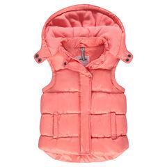 Microfleece lined sleeveless jacket