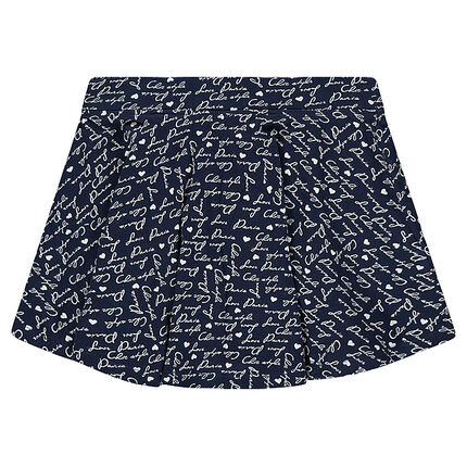 Junior - Pleated skirt in printed jersey