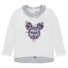 2-in-1 effect light fleece sweatshirt with a ©Disney Minnie Mouse print