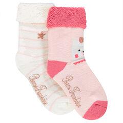 Set of 2 pairs of terry loop knit socks