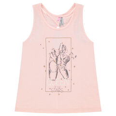 Jersey tank top with dance shoe print