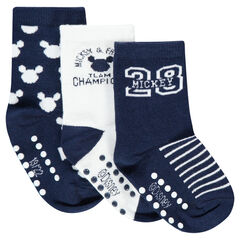 Set of 3 pairs of socks with a jacquard ©Disney Mickey Mouse motif