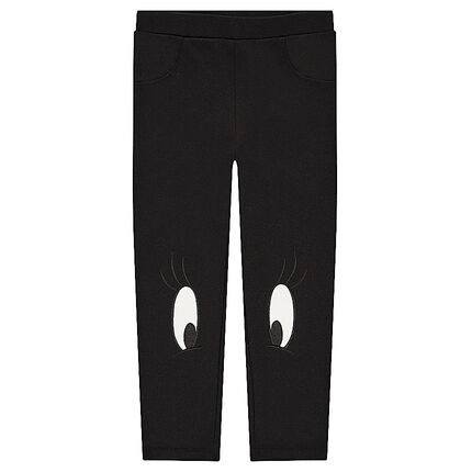 Milano leggings with eye patches on knees