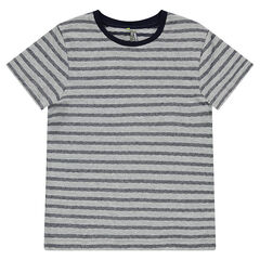 Junior - Short-sleeved tee-shirt with trendy stripes