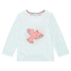 Long-sleeved tee-shirt with decorative print
