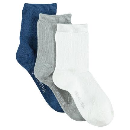3 pairs of plain socks