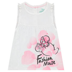 Flared tank top with a ©Disney Minnie Mouse print