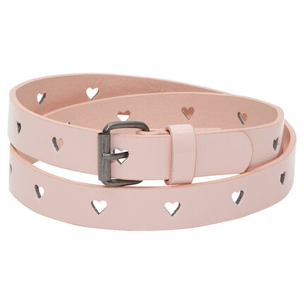 Adjustable belt with heart-shaped notches