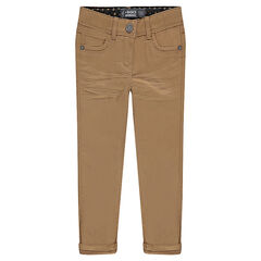 Junior - Plain-colored slim fit twill pants
