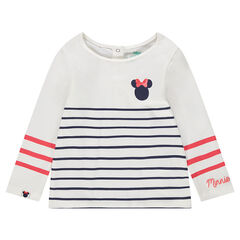Jersey sailor top with ©Disney Minnie Mouse and striped design