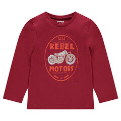 Junior - Long sleeve creative print T-shirt