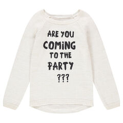 Junior - Knit sweater with a printed message