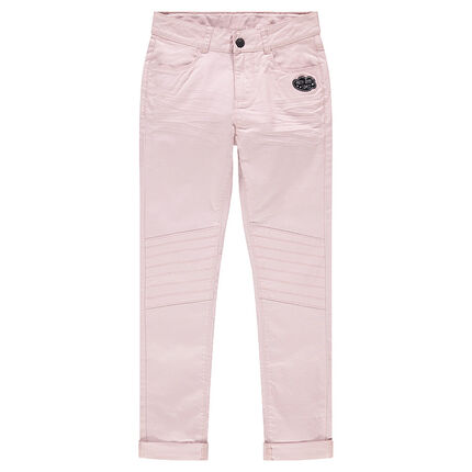 Junior - Twill crinkled-effect pants with cloud patch