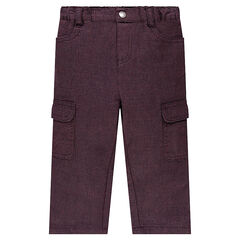 Pants in an original cotton fabric with flap pockets