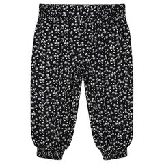 Fluid 3/4 pants with printed palmtrees