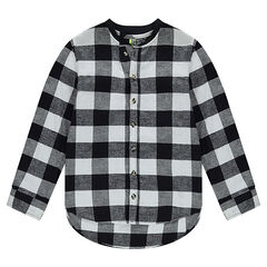 Junior - Long-sleeved checkered flannel shirt