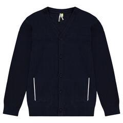 Junior - Gilet en tricot fantaisie avec poches