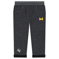 Fleece sweatpants with Disney Minnie Mouse embroidery