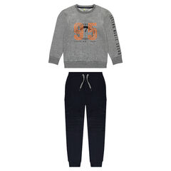 Junior - Fleece jogger set with pants with pockets and sweatshirt