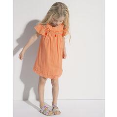 Bare-shouldered cotton crepe dress