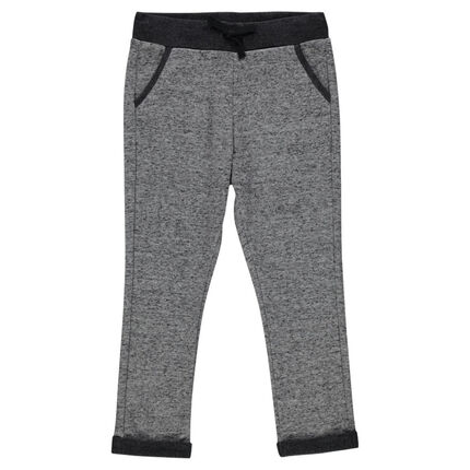 Heathered fleece baggy pants