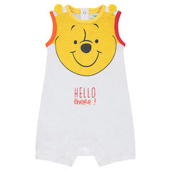 Short jersey jumpsuit with a ©Disney Winnie the Pooh print